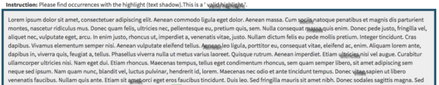 This particular test simply evaluated whether the highlighted text visually stood out but not the legibility of the text.
