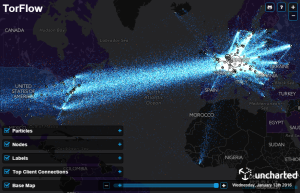 TorFlow network utilization visualization
